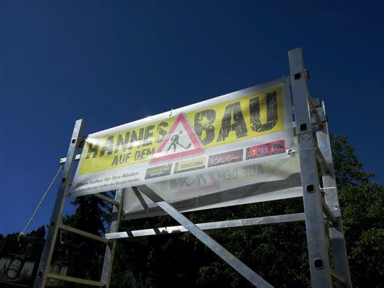 2012: Hannes auf dem Bau