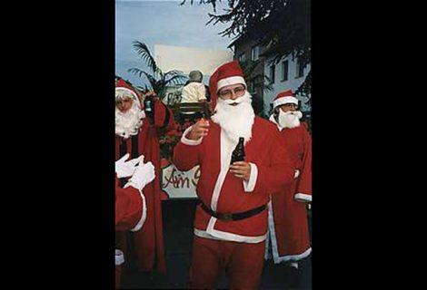 1996: Betriebsausflug der Weihnachtsmänner