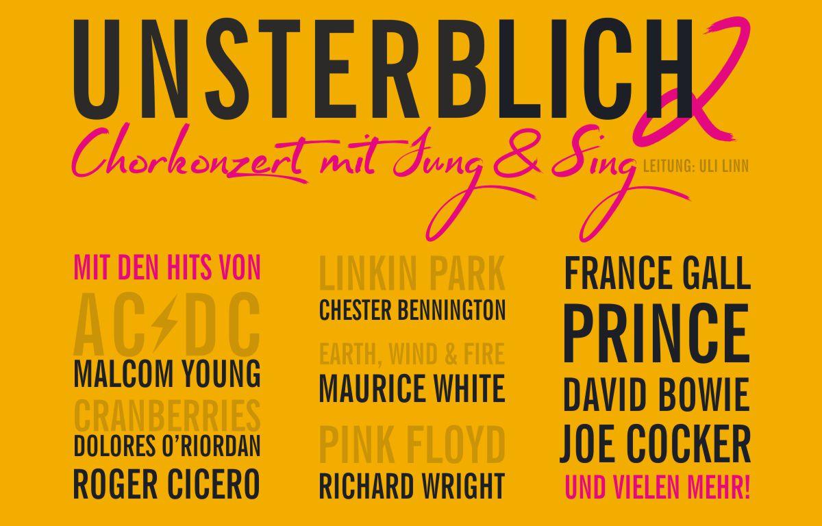 """""""UNSTERBLICH 2"""" – Chorkonzerte mit Jung & Sing"""
