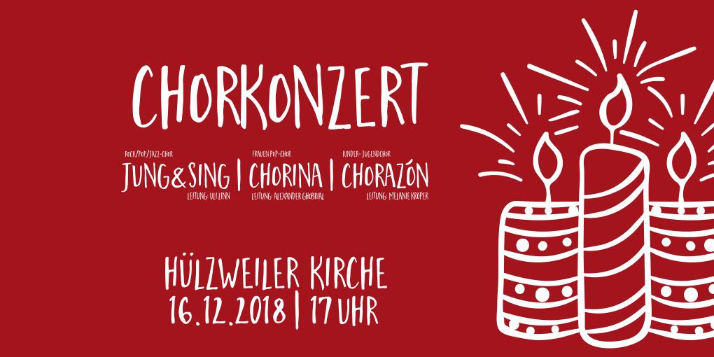 Konzert am 3. Advent (16.12.2018, 17 Uhr, Hülzweiler Kirche)