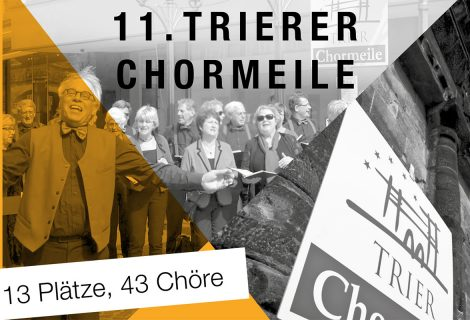 Jung & Sing am 21. April 2018 bei der Chormeile in Trier