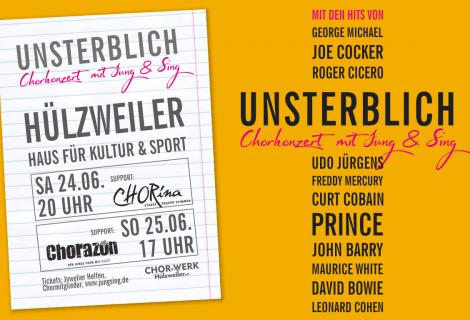 UNSTERBLICH – Chorkonzerte mit Jung & Sing