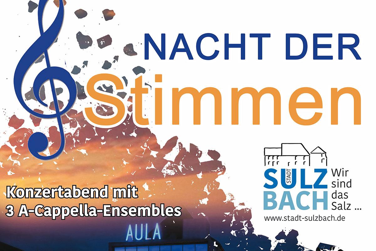 09.11.: Jung & Sing bei der Nacht der Stimmen in Sulzbach
